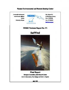 Nansen Environmental and Remote Sensing Center. NERSC Technical Report No SatWind. Final Report