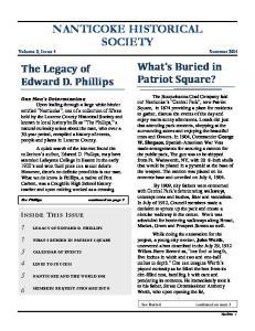 NANTICOKE HISTORICAL SOCIETY Volume 2, Issue 4 Summer 2014