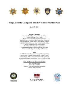 Napa County Gang and Youth Violence Master Plan