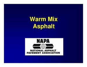 NAPA Strategic Goal: Reduce Emissions, Fumes and Odors