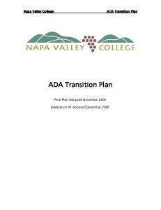 Napa Valley College ADA Transition Plan