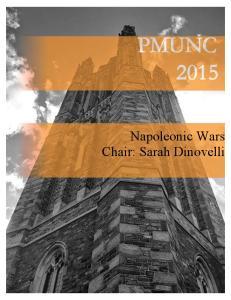 Napoleonic Wars Chair: Sarah Dinovelli