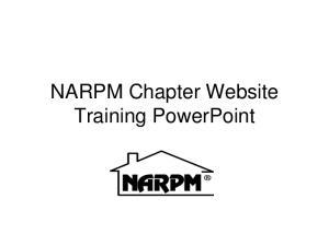 NARPM Chapter Website Training PowerPoint