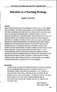 Narrative as a Teaching Strategy