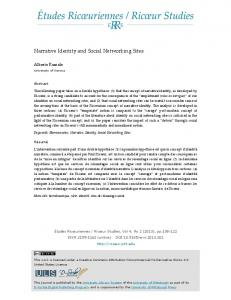 Narrative Identity and Social Networking Sites