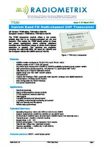 Narrow Band FM Multi-channel UHF Transceiver