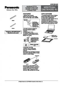 NARROW PITCH (0.6mm) CONNECTORS P6 SERIES P6S
