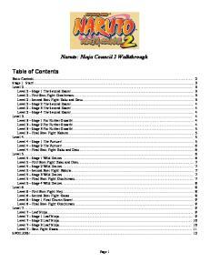 Naruto: Ninja Council 2 Walkthrough
