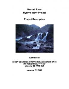 Nascall River Hydroelectric Project. Project Description