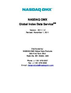 NASDAQ OMX Global Index Data Service SM