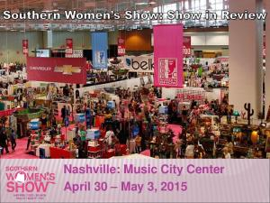 Nashville: Music City Center April 30 May 3, 2015