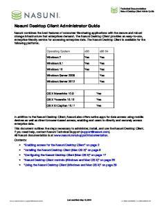 Nasuni Desktop Client Administrator Guide