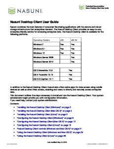 Nasuni Desktop Client User Guide