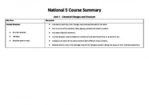 National 5 Course Summary