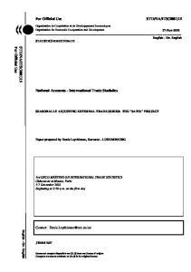 National Accounts - International Trade Statistics