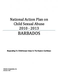 National Action Plan on Child Sexual Abuse BARBADOS. Responding To Child Sexual Abuse In The Eastern Caribbean