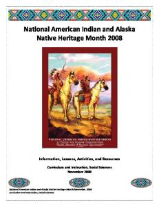National American Indian and Alaska Native Heritage Month 2008