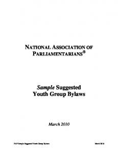 NATIONAL ASSOCIATION OF PARLIAMENTARIANS