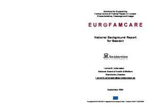 National Background Report for Sweden