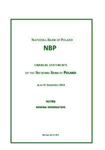 NATIONAL BANK OF POLAND