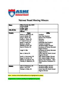 National Board Meeting Minutes