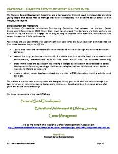National Career Development Guidelines