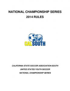 NATIONAL CHAMPIONSHIP SERIES