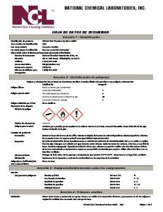 NATIONAL CHEMICAL LABORATORIES, INC
