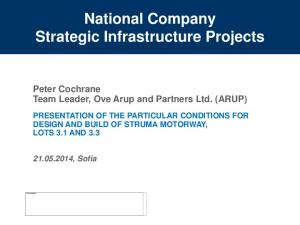 National Company Strategic Infrastructure Projects
