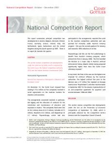 National Competition Report