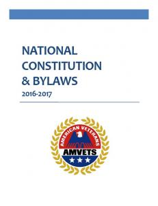 NATIONAL CONSTITUTION & BYLAWS