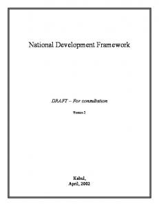 National Development Framework