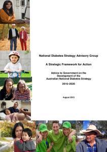 National Diabetes Strategy Advisory Group. A Strategic Framework for Action