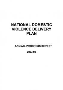 NATIONAL DOMESTIC VIOLENCE DELIVERY PLAN