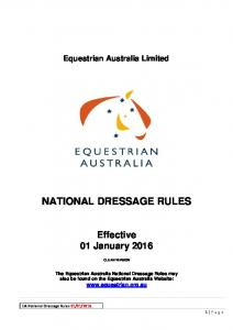 NATIONAL DRESSAGE RULES