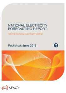 NATIONAL ELECTRICITY FORECASTING REPORT FOR THE NATIONAL ELECTRICITY MARKET