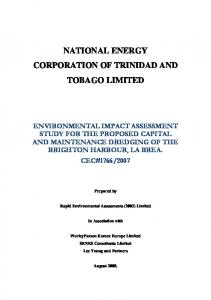 NATIONAL ENERGY CORPORATION OF TRINIDAD AND TOBAGO LIMITED