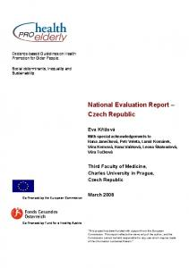 National Evaluation Report Czech Republic