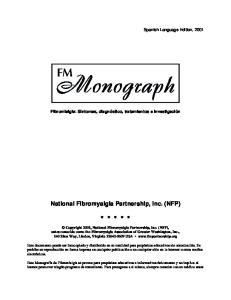 National Fibromyalgia Partnership, Inc. (NFP)