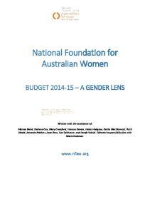 National Foundation for Australian Women