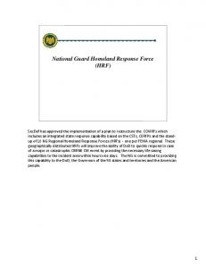National Guard Homeland Response Force (HRF)