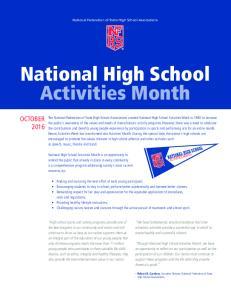 National High School Activities Month