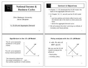 National Income & Business Cycles