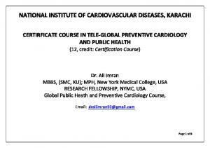 NATIONAL INSTITUTE OF CARDIOVASCULAR DISEASES, KARACHI