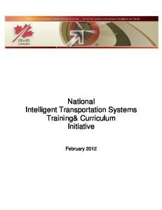 National Intelligent Transportation Systems Training& Curriculum Initiative