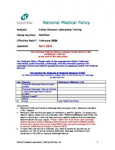 National Medical Policy