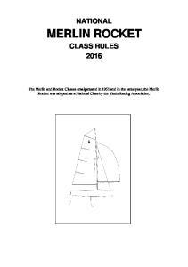 NATIONAL MERLIN ROCKET CLASS RULES