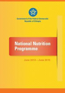 National Nutrition Programme