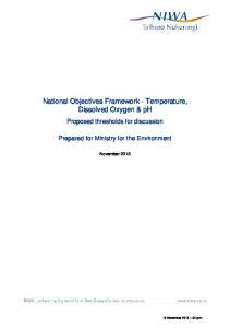 National Objectives Framework - Temperature, Dissolved Oxygen & ph