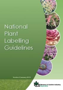 National Plant Labelling Guidelines